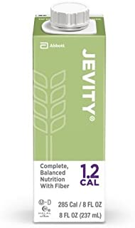 Jevity 1.2 Cal High-Protein Nutrition With Patented Fiber Blend, Ready to Use, 8 Fluid Ounces (Pack of 24)