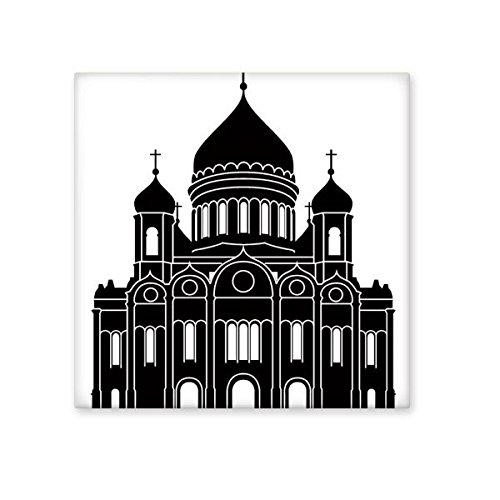 DIYthinker Moskau Christ-Erlöser-Kathedrale Silhouette Muster Keramik Bisque Fliesen für Dekorieren Badezimmer-Dekor Küche Keramische Fliesen Wandfliesen S