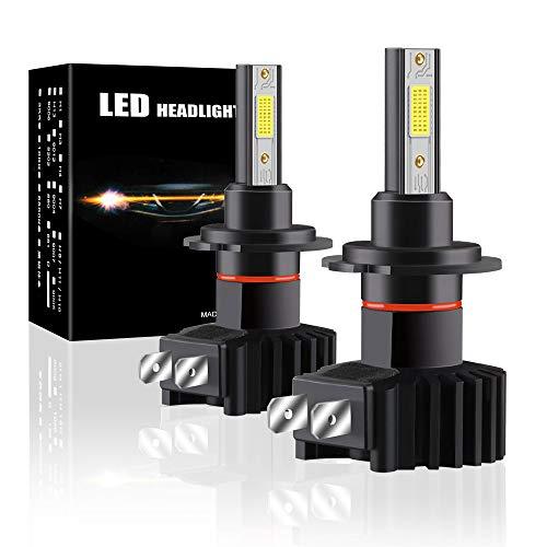 H7 bombilla LED para faros delanteros Haz alto/cruce 60W 12000LM kit de...