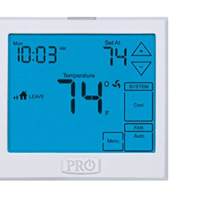 PRO1 IAQ T955 Touchscreen 3 Hot/2 Cold 7 Day Thermostat with 13-Inch Screen