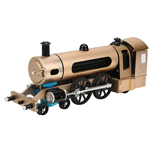 DM21 2‑Wheeled Steam Train Assembly Kit Metal Machinery DIY Assembly Model