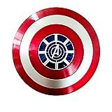 Escudo Capitan America Adulto ABS 1: 1 Apoyos de Película Escudo Capitan America Niños Capitán América Disfraz de ABS Shield para niños y fanáticos de Cospiay B,58cm