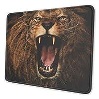 黒と白のライオン マウスパッド 大型 デスクマット Pcマット 防水超大型 ゲーミングマウスパッド おしゃれ 防水 耐久性 滑り止め オフィス ゲーム