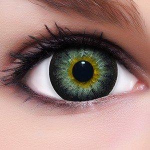 Circle Lenses schwarze Sexy Black ohne und mit Stärke + Behälter I 15mm I weich I 3 Monate anwendbar I Ohne und Mit Stärke