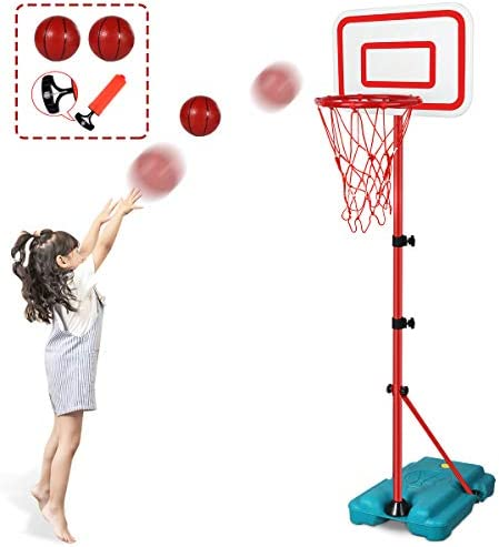 N C Kids Basketball Hoop Stand Adjustable Height 2 9 ft 6 2 ft Indoor Basketball Hoop Outdoor product image