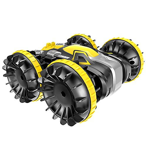 Kikioo 2.4G Control remoto RC Car 360 Rotativo de cuatro ruedas Vehículo anfibio de acrobacias a prueba de agua Conducción de doble lado Juguetes eléctricos para niños Camión RC Vehículo de acrobacias