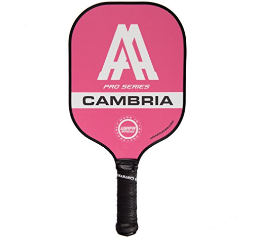 Amazin' Aces 'Cambria' Pickleball Paddle | USAPA Approved | Composite Racket - Advanced Polymer Core with Polycarbonate Face & Premium Gamma Grip | Made in The USA | Pro Series (Pink)