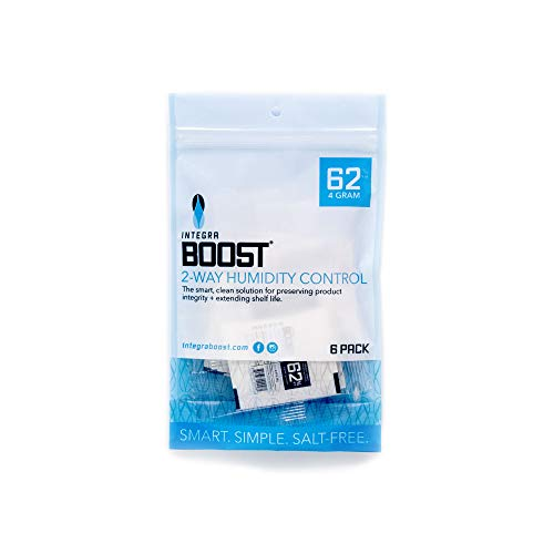 Integra Boost 62-Percent RH 2-Way Humidity Control, 4 Gram - 6 Pack ! New & Improved !