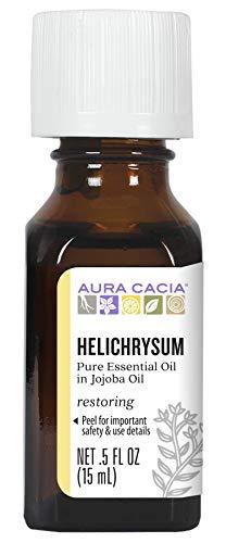 Aura Cacia Helichrysum in Jojoba Oil   GC/MS Tested for Purity   15ml (0.5 fl. oz.)