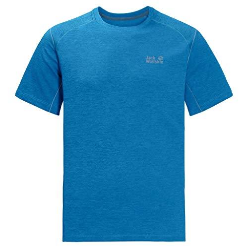 Jack Wolfskin Hydropore Xt T-Shirt, Maglietta da Uomo, Blu Brillante, XXL