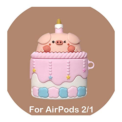 3D Cartoon Cake Pig Soft Silicone Earphone Headset Case for Airpods Pro 3 Protective Cover for Airpods 1 2 Cute Bluetooth