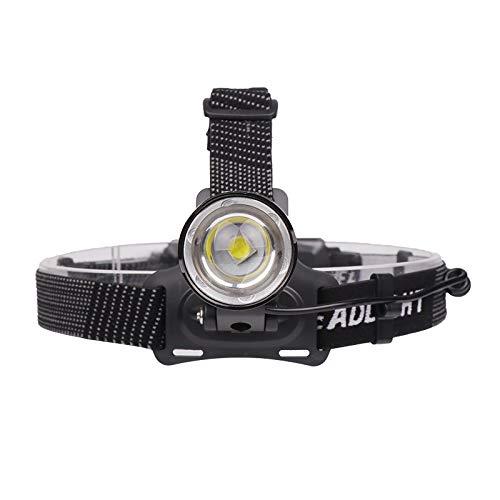 SHIYIMY Linternas Frontales Proyector de LED 3-Modo de Zoom del Faro 4000LM de Alta Potencia Recargable 18650 Cabeza de Caza Que acampa de la Linterna iluminación (Emitting Color : F Package)