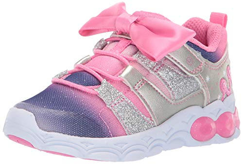 Stride Rite Girls Katie Light-Up Mesh Athletic Sneaker, Pink, 13.5 M US Little Kid