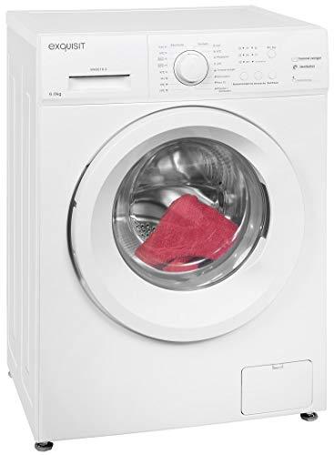 Exquisit Waschmaschine WA 6010-2 | Frontlader |6 kg Fassungsvermögen |weiß