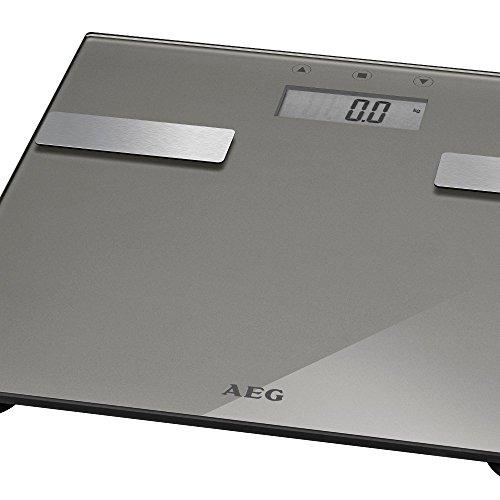 7in1 Personenwaage Digital bis 180 kg Körperfett Analysewaage Glas Edelstahl (Digitale Waage, Fettanalyse, Wasseranteil, Muskelmasse, Knochengewicht, Kalorien-Bedarf)