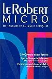 Le Robert Micro - Dictionnaire d'apprentissage de la langue française Version reliée