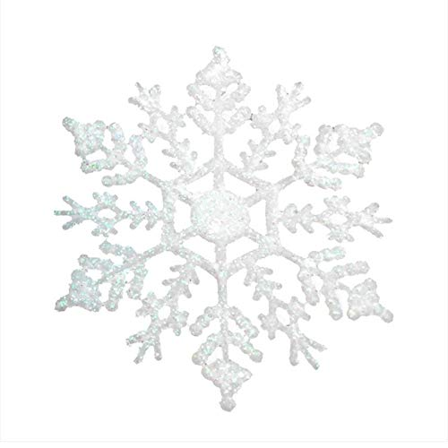 WSJKHY, glitter, sneeuwvlok, kerstversiering, kerstboom, kleerhangers, slinger, maken, kerstversiering wit