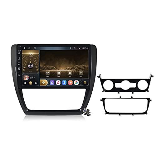Android 10 Car Radio de Navegación GPS para Volkswagen Jetta 6 2011-2018 con 9 Pulgada Táctil Support 5G FM Am RDS/DSP MP5 Player/Steering Wheel Control/Carplay,M300