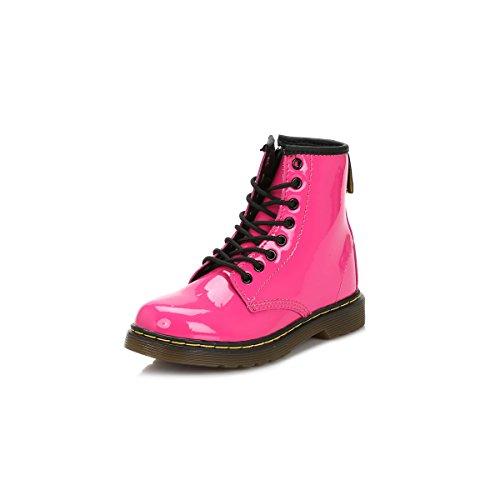 Dr. Martens DELANEY Patent RED, Mädchen Bootschuhe, Rosa (Hot Pink) , 35 EU ( 2.5 UK )