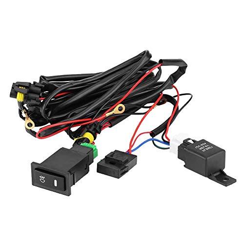 Victool Relé de cableado del Interruptor, Kit de relé de Fusible de arnés de cableado de Interruptor de Encendido/Apagado de luz antiniebla LED Universal para Coche de 12 V