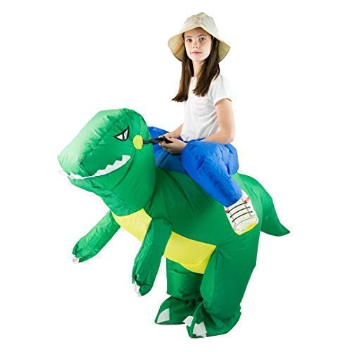Bodysocks® Kids Inflatable Green Dinosaur Costume, One Size