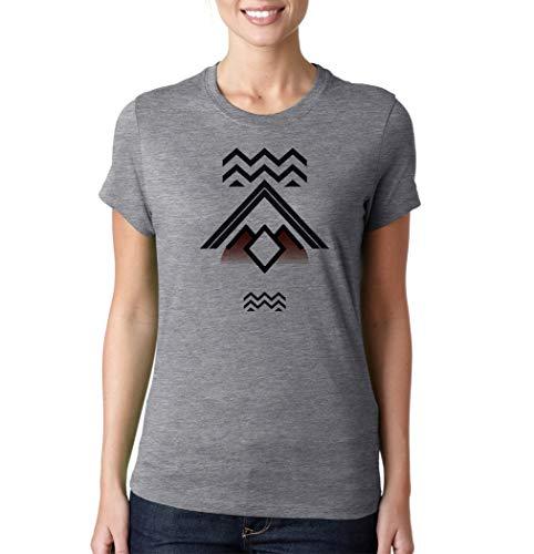 Nothingtowear Twin Peaks Symbol T-Shirt Camiseta De Mujer Gris XL