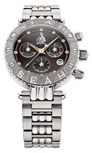 SEAH Galaxy Zodiac Sign Aquarius edición Limitada 38mm Swiss Made Reloj de Lujo.