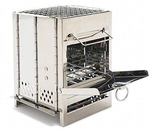 JONJUMP Estufa mini de leña plegable portátil estufa de fuego fogones cocinero mini estufa camping barbacoa trabajo al aire libre pesca caliente