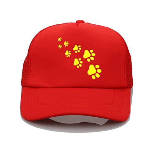 QERTYU Funny Dog Cat Paws Harajuku Casquette de Baseball Femmes Summer Trend Cap Vintage Vogue Sun Hat-6