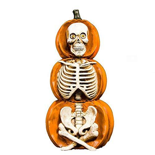 Figura Ornamental de Esqueleto, Estatua de Esqueleto de Halloween, ornamentación de Halloween Naranja de 15 Pulgadas
