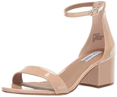 Steve Madden Women's Irenee Heeled Sandal, Blush Patent, 8 M US