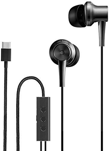 Xiaomi Mi ANC Type C - Auriculares USB Tipo C - Auriculares de Diseño - Impedancia 32 Ohmios - Sensibilidad 113dB - Micrófono Incorporado - Cancelación Ruido Activa Micrófono (Versión Europea)
