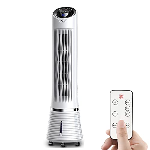 household products 3-Speed Tower Cooling Fan with Remote and Wheel, Portable Floor Air Cooler LED Display 9 Modes 8H Timer Standing Fan for the Whole Room Home Office White