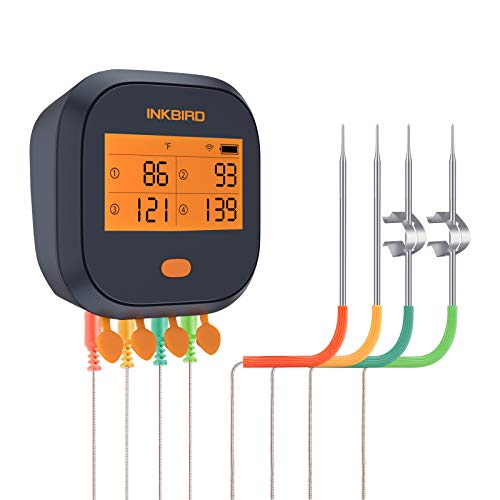 Inkbird WIFI Meat Grill Thermometer IBBQ-4T with 4 colored Probes $59.99