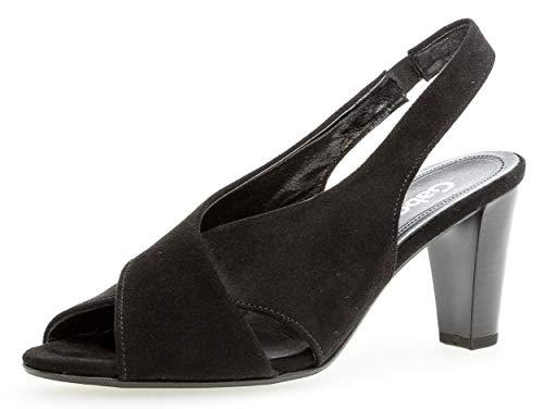 Gabor 21.831 Damen Sandalen,Sandaletten, Frauen,tten,Sommerschuhe,offene Absatzschuhe,hoher Absatz,feminin,schwarz,6.5 UK