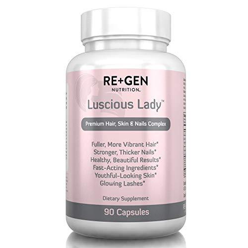 LUSCIOUS LADY Biotin Hair Growth Formula for Healthy, Sexy Hair - Biotin & Keratin Treatment w/ Organic Silica & Multivitamins for Longer, Thicker, Healthier Hair, Stronger Nails & Glowing Skin