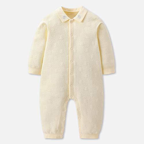 YummeIge pyjama voor baby, baby, pyjama, katoen, lente, herfst, peuters, pyjama, voor 3-9 maanden gebruik, voor jongens en meisjes, schattig, cardigan jumpsuit, eenvoudig aan te brengen en uit te trekken, kleding