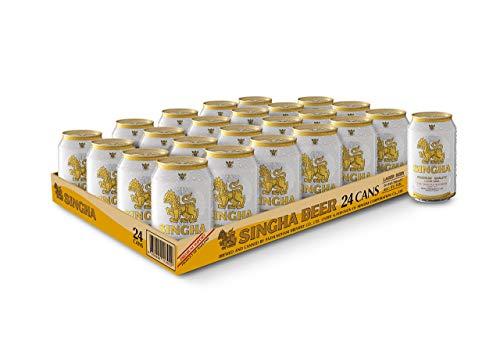 Singha – Asiatisches Premium Bier aus Thailand mit 5 % vol. – 24 x 0,33 l Dosenbier mit Einwegpfand