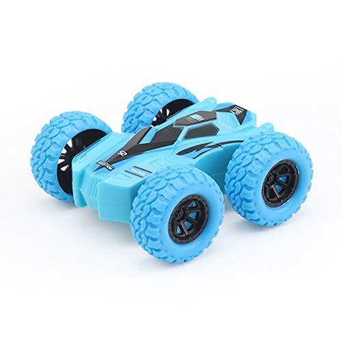 Niños Inercia Camión volquete de Doble Cara Resistente a caídas 360 Tumbling Spinning Toy Car Convertido en Kid Gift Toys Azul