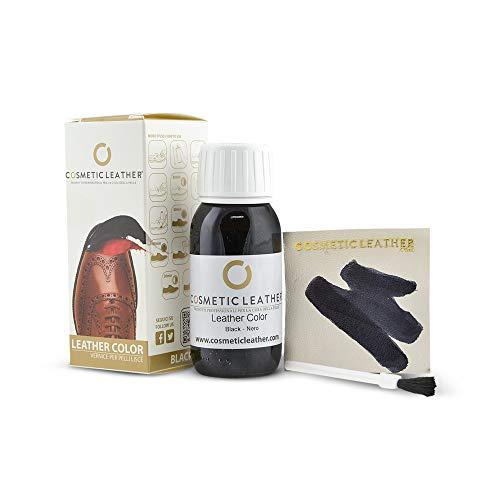 Tintura liquida Nero per Scarpe in Pelle, Vernice per Accessori in Pelle 50 ml Cosmetic Leather