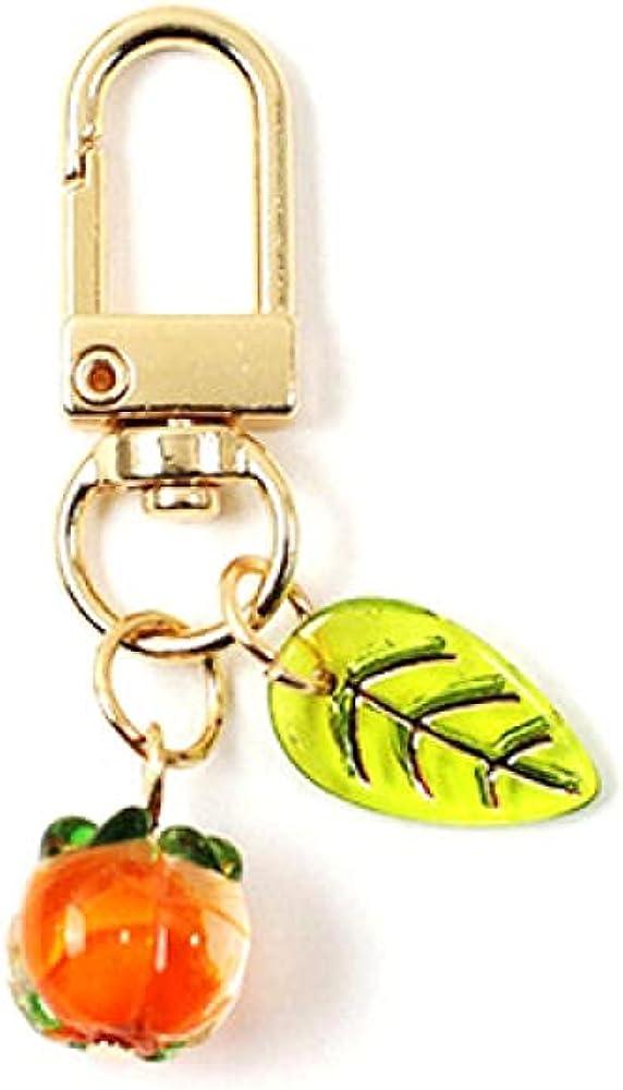 Gift Fruit Bag Pendant Keychain Persimmon Key Chain Cute Woman Keyring