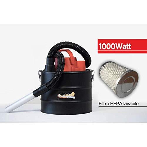 Aspiracenere 1000 W aspirapolvere per stufa a pellet camino o bbq con fusto da 15 lt aspira cenere Pratikò San Marco