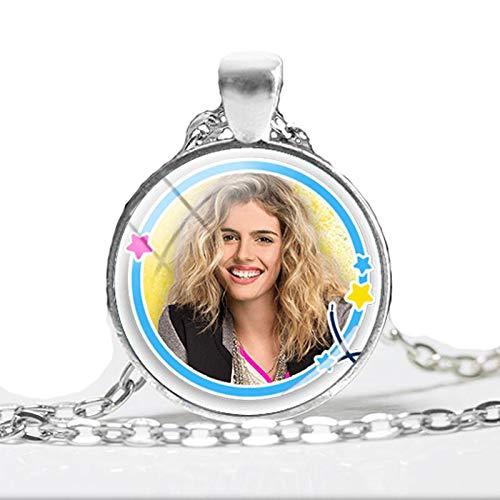 Super Pop TV Soy Luna Anhänger Halskette Simon Jazmin Monica Anhänger Glaskuppel Foto Halsketten rund