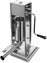 XtremepowerUS Vertical Stainless Steel Sausage Stuffer Maker Meat Filler, With 4 Stainless Steel Sausage Tubes 2L / 5-Pounds