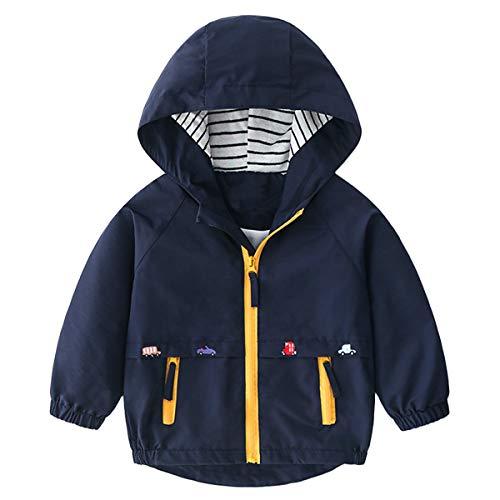 Famuka Chaquetas abrigos Ropa de abrigo Ropa para bebé Abrigo de chaqueta de bebé niño primavera otoño (Azul, 110, 24 meses)