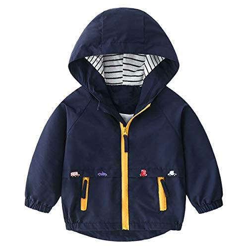Famuka Chaquetas abrigos Ropa de abrigo Ropa para bebé Abrigo de chaqueta de bebé niño primavera otoño (Azul, 120, 3 años)
