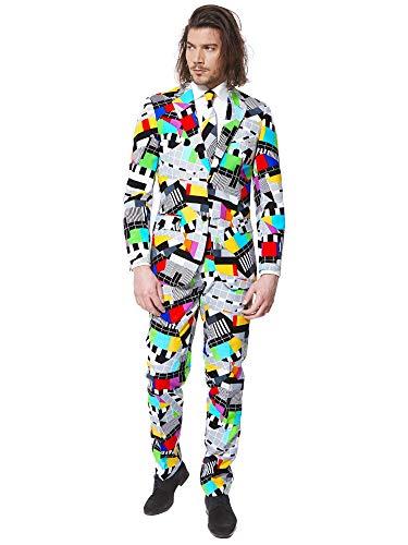 OppoSuits Lustige Verrückt Abschlussball Anzüge für Herren - Komplettes Set: Jackett, Hose und Krawatte