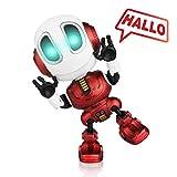 Baztoy Sprechender Roboter Spielzeug, KinderSpielzeug Mini Roboter mit Wiederholen Tonaufnahme Funktion LED Licht Interaktive Spiele Pädagogisches Lernspielzeug Geschenk für Kinder Jungen Mädchen Baby