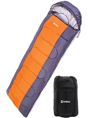 LICLI 寝袋 夏用 コンパクト 軽量 封筒型 シュラフ 1.8kg フード付き 220cm 収納袋付き 8カラー 最低使用温度 -5度