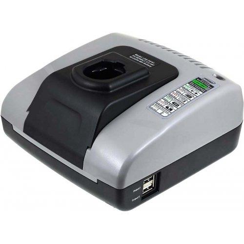 Caricabatteria Powery con USB per utensile Black & Decker batteria Tipo FIRESTORM A9282